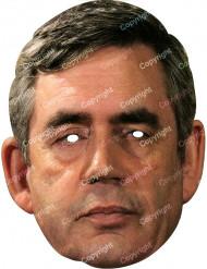 Máscara de cartão Gordon Brown