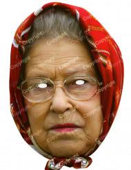 Máscara de cartão Rainha Elisabete com lenço