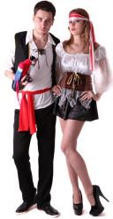 Disfarce casal pirata
