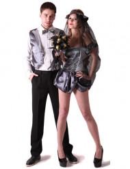 Disfarce casal noivos góticos Halloween