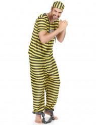 Disfarce prisioneiro amarelo para homem