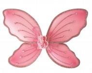 Asas cor-de-rosa criança