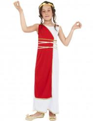 Disfarce deusa romana vermelho e branco menina