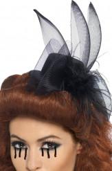 Mini-chapéu viúva preto Halloween