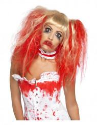 Peruca manga Halloween para mulher