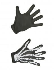 Luvas de esqueleto para adulto