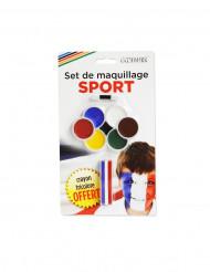 Maquilhagem apoiante 7 cores e lápis 3 em 1 com pincel.
