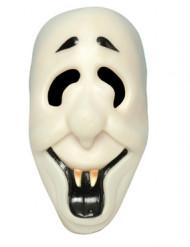 Máscara fantasma sorridente adulto Halloween