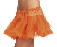 Saiote cor de laranja de tule mulher