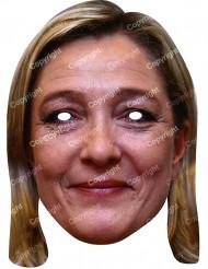 Máscara de cartão Marine Le Pen