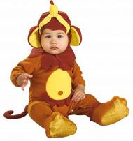 Disfarce macaco com a sua banana bebé