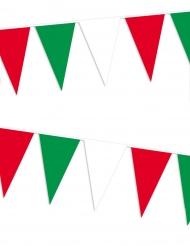 Grinalda de bandeirolas vermelho, branco, verde