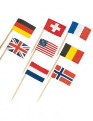 30 Palitos com bandeiras