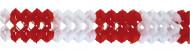 Grinalda de papel vermelha e branca