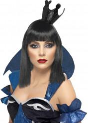 Mini chapéu coroa preta mulher