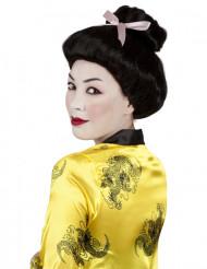 Peruca geisha preta mulher