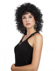 Peruca encaracolada preta mulher