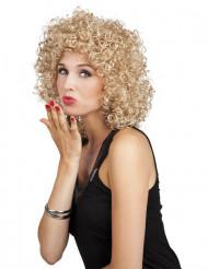 Peruca encaracolada loira mulher