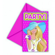 6 Convites Barbie Dollicious™