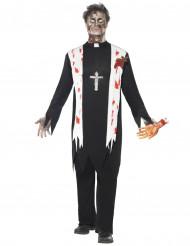 Disfarce zombie religioso homem Halloween