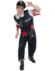 Disfarce zombie polícia homem Halloween
