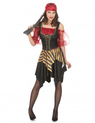 Disfarce de pirata mulher