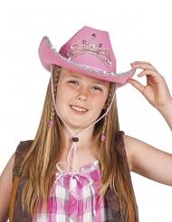 Chapéu vaqueira princesa menina