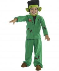 Disfarce monstro verde criança Halloween