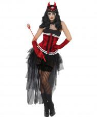 Disfarce demônio sexy mulher Halloween