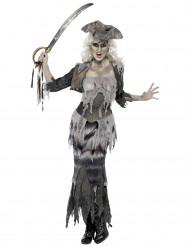 Disfarce monstro pirata mulher Halloween