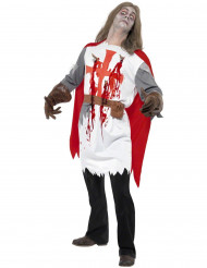 Disfarce de cavaleiro zombie adulto Halloween