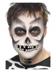 Kit maquilhagem esqueleto adulto Halloween