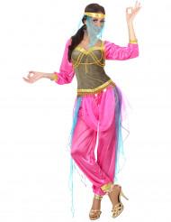 Disfarce dançarina oriental cor-de-rosa para adulto