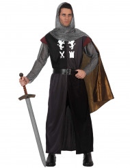 Disfarce cavaleiro medieval adulto