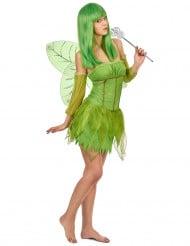 Disfarce fada verde para mulher