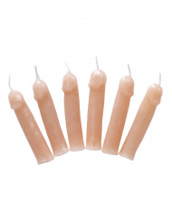 6 Velas pénis