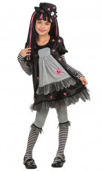 Disfarce gótico Black Dolly menina
