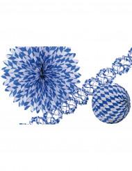 3 Decorações azuis e brancas