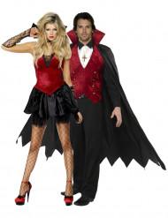 Disfarce casal vampiro Halloween
