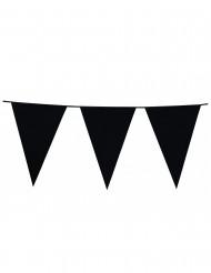 Grinalda de bandeirolas pretas