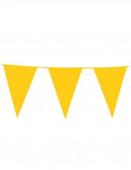 Grinalda de bandeirolas amarela