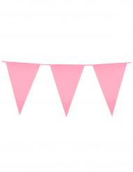 Grinalda de bandeirolas cor-de-rosa