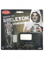 Kit maquilhagem esqueleto Halloween