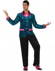 Disfarce estilo anos 60 azul e cor-de-rosa homem