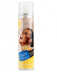 Spray dourado para o corpo e cabelos