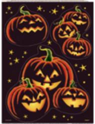 Autocolantes para janelas abóbora preta Halloween