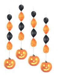 Decoração para pendurar abóbora de Halloween