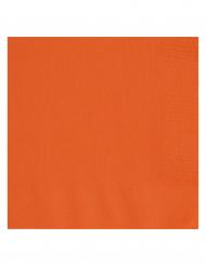 20 Guardanapos de papel cor de laranja Halloween