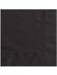20 guardanapos de papel preto 33x33cm