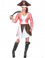 Disfarce Pirata mulher cor-de-rosa